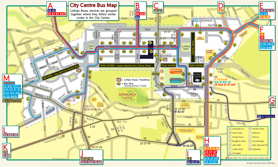 Lothian Buses Route Map You Can't Get There from Here | davidsberry