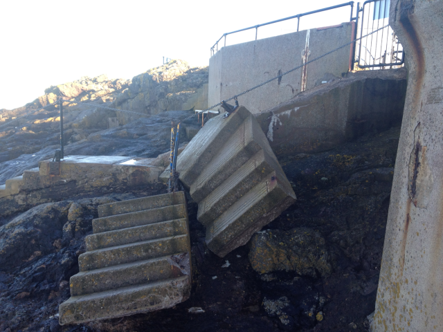 Wreck of Steps to Galloway's Pier