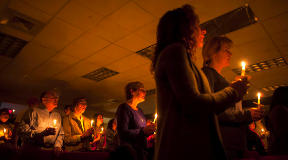 Newtown's Grace Christian Fellowship Holds a Candlelit Vigil