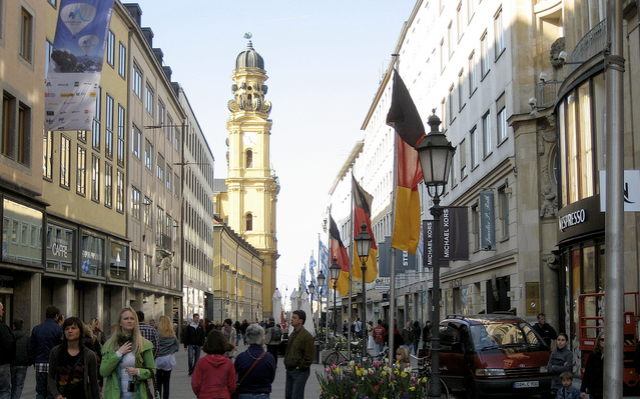 Up-market Shopping—Theatinerstraße, Munich