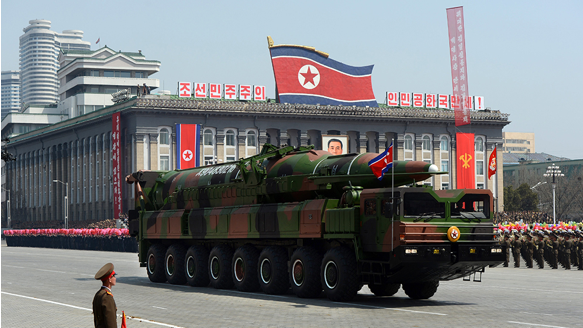 PRNK new KN-08 missile during a military parade in April 2012