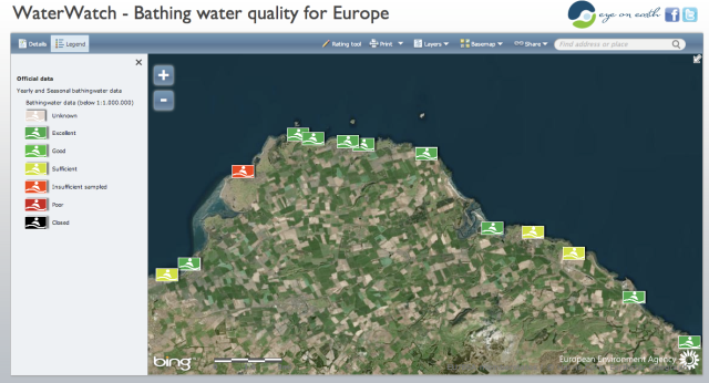 Official European Water Quality Ratings for East Lothian Beaches 2013
