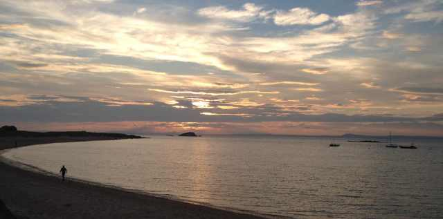 Not Yet Sunset: West Beach, North Berwick, July 19th 2013