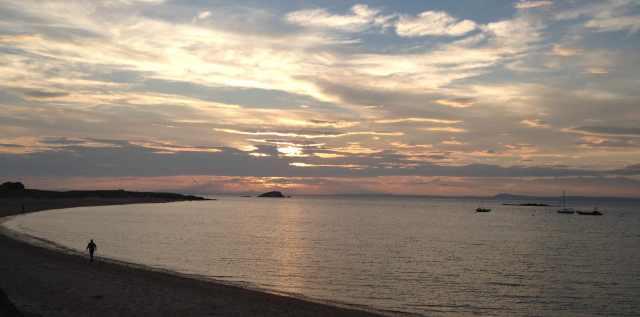 Not Yet Sunset: West Beach, North Berwick, July 19th 2013