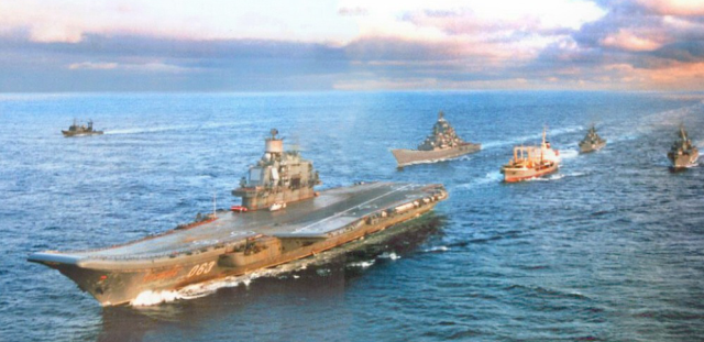"Russian Carrier ""Admiral Kuznetsov"" with Escorts"