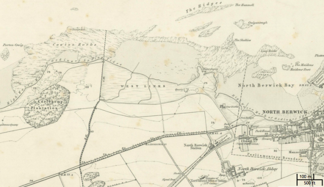 "OS May circa 1853; Note Complete Absence of West End but ""Carlekemp Plantation"""