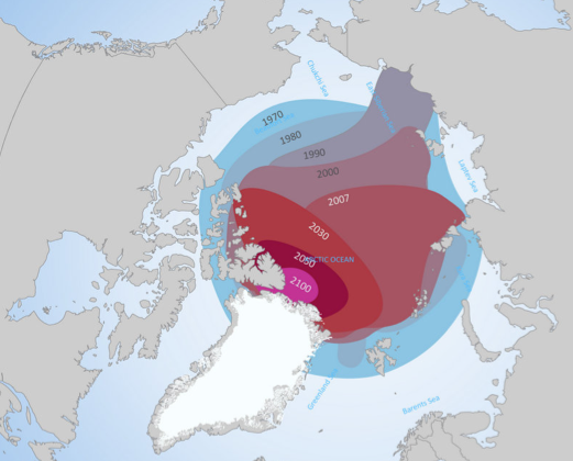 Projected extent of Arctic Sea Ice over the Next Century
