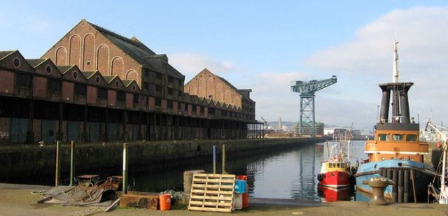 Sugar Sheds and James Watt Dock, Greenock