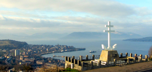 View over Gourock and the Tail O' The Bank to Cowal.