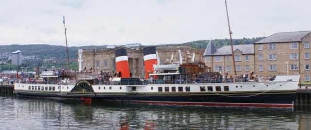 SS Waverley at Custom House Quay, Greenock