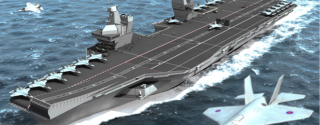 Artist Impression of HMS Queen Elizabeth at Sea