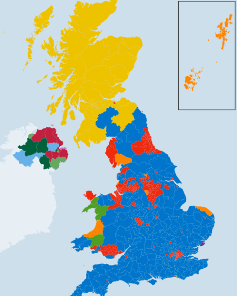 Political Map of UK after the 2015 General Election