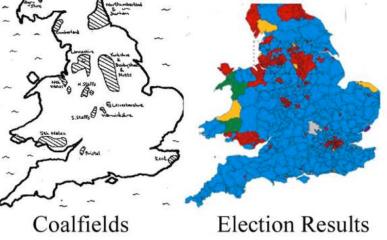 Comparison of Coalfield Distribution with Labour MP