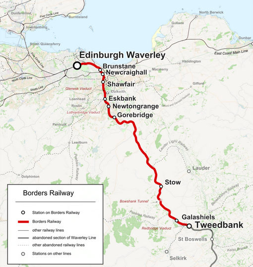 Borders Railway Route and Stations