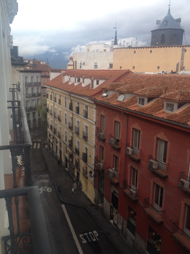 View from my Apartment in Calle AStocha, Madrid