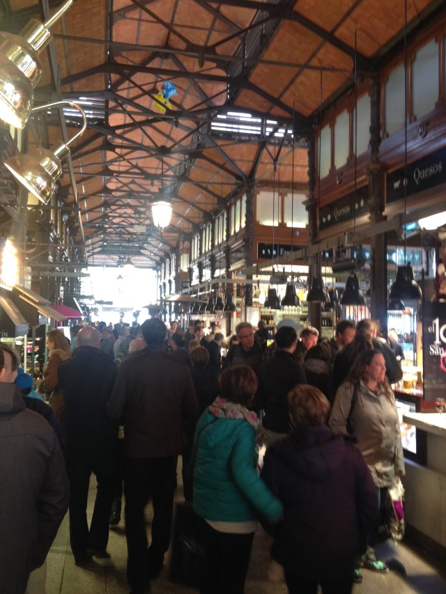 Madrid's San Miguel Market, not far from Plaza Mayor.